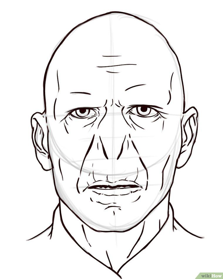 How To Draw Voldemort Harry Potter Portraits Harry Potter Sketch Harry Potter Art Drawings