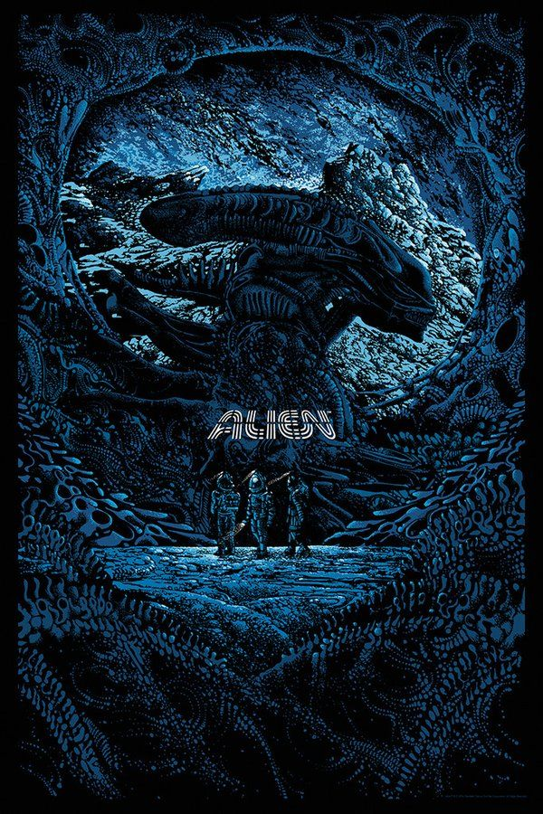 """Alien"" by Kilian Eng (@DWDSGN) for @MondoNews ON SALE TODAY @ A RANDOM TIME 84,5€ #StreetArt #Cinema #GoodBoutique"