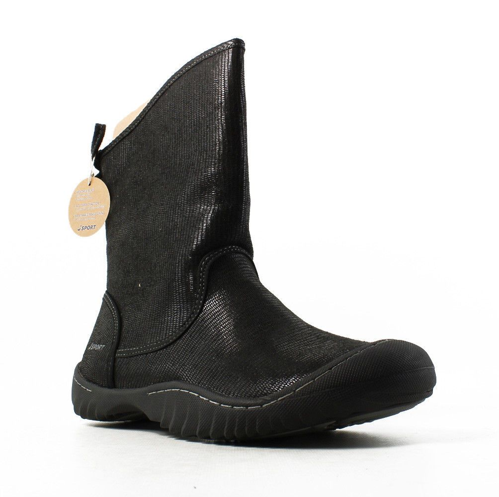 0b29e419d Lacoste Black Suede Boots Wedge Lazaret Size 9.5 Shearling Lined Womens New   Lacoste  SnowWinter  boots