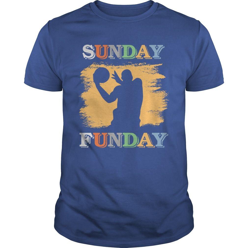 Funny Sunday Funday Basketball Tee Gift Ideas Popular Everything Videos