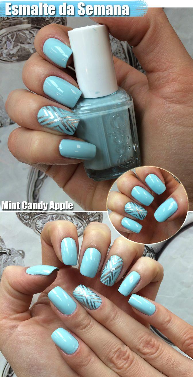 Unhas da semana: Mint Candy Apple | Picina, Azul y Deco