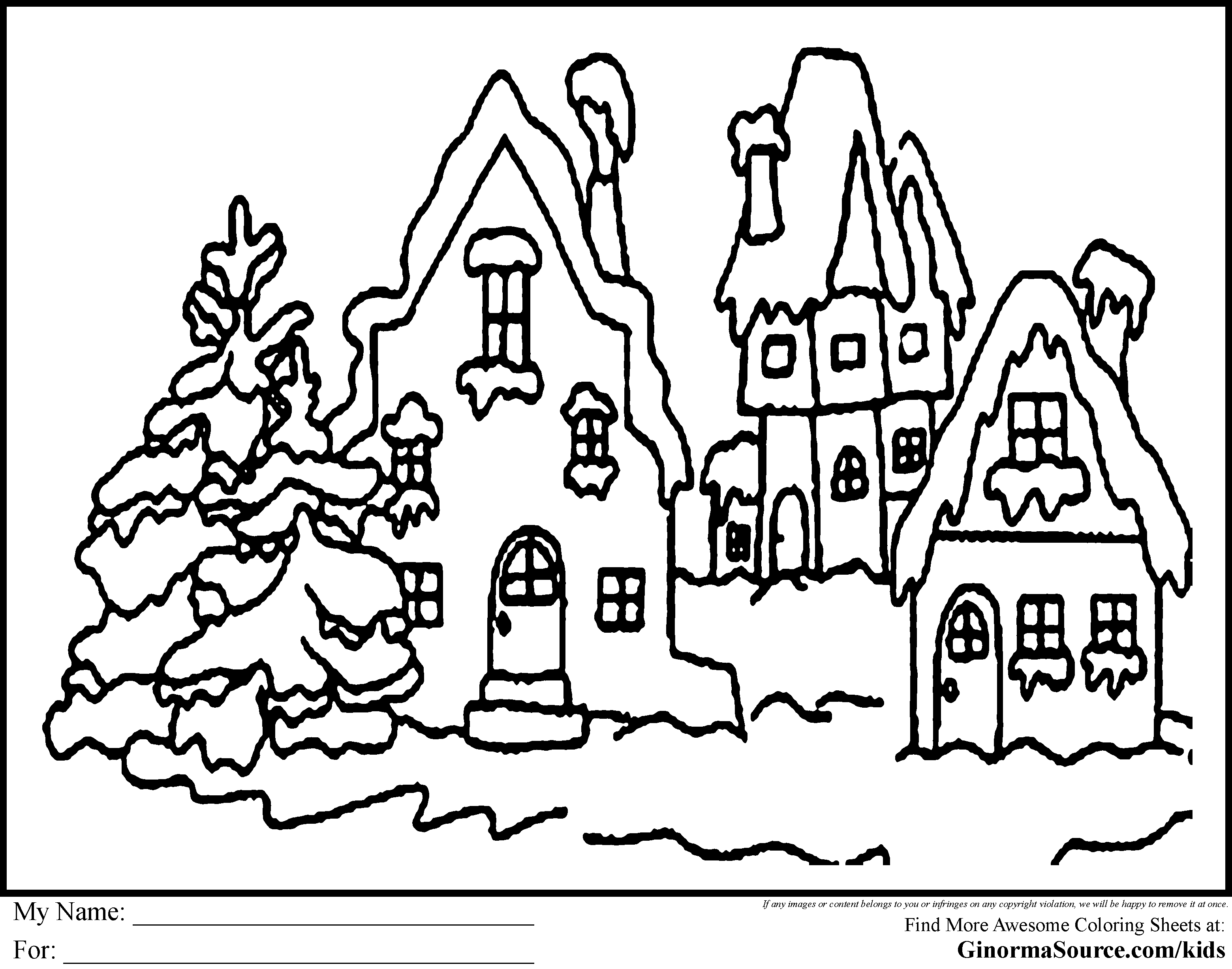 Free Printable Coloring Christmas Pages ... | Line Drawings ...