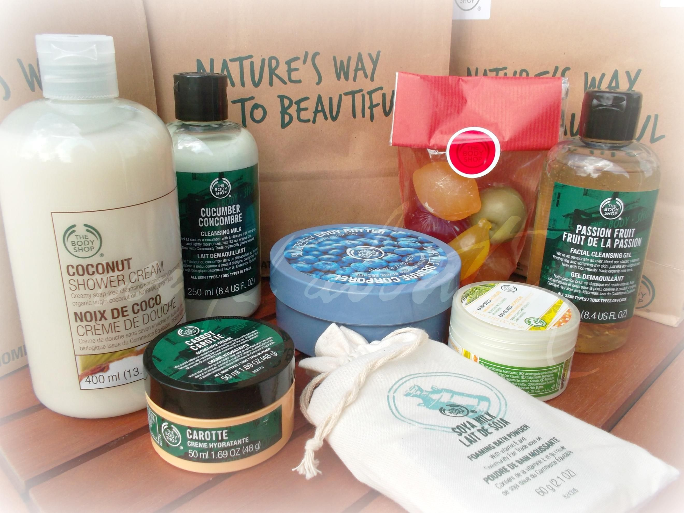 The Body Shop Haul   http://round-about-me-facts.blogspot.de/2012/06/es-gab-prozente-und-ich-schlage-zu.html