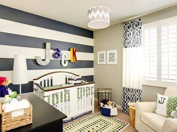 Preppy And Classic Navy Blue And White Stripes Create A Striking