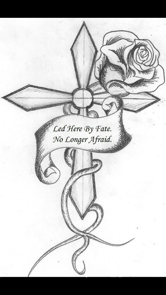Cute Cross With Images Roses Drawing Cross Drawing Tattoo