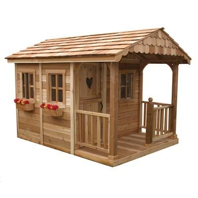 Outdoor Living Today Sunflower Cedar Storage Shed and Playhouse