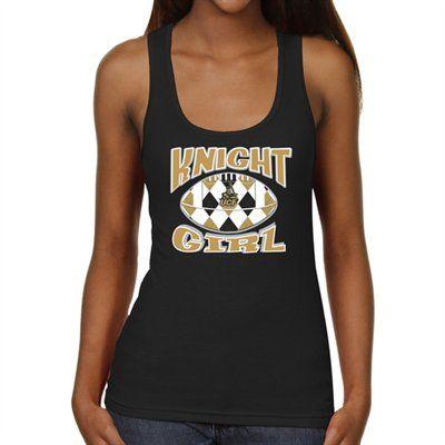 UCF Knights Ladies Argyle Girl Junior's Ribbed Tank Top - Black ...