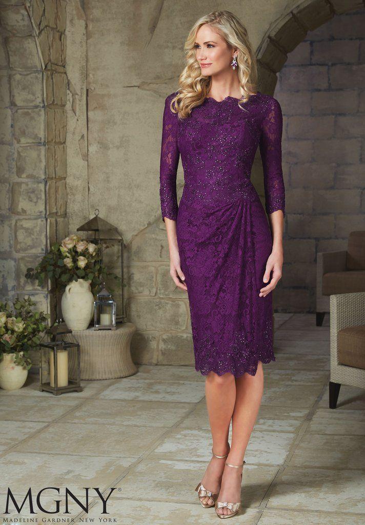 XH20 Short sheathy long sleeve lace purple homecoming dress,short ...