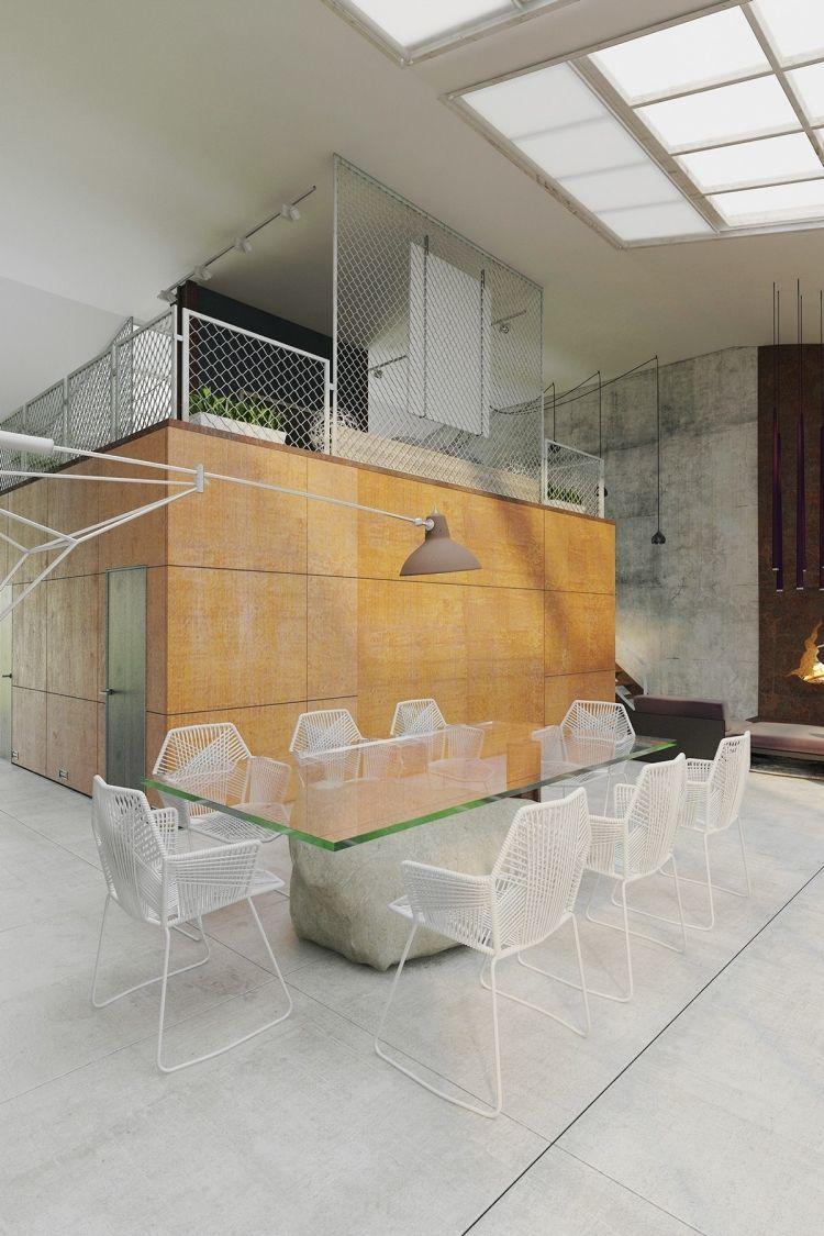 robuste Materialien - Cort-Stahl, Gitter und Beton ...