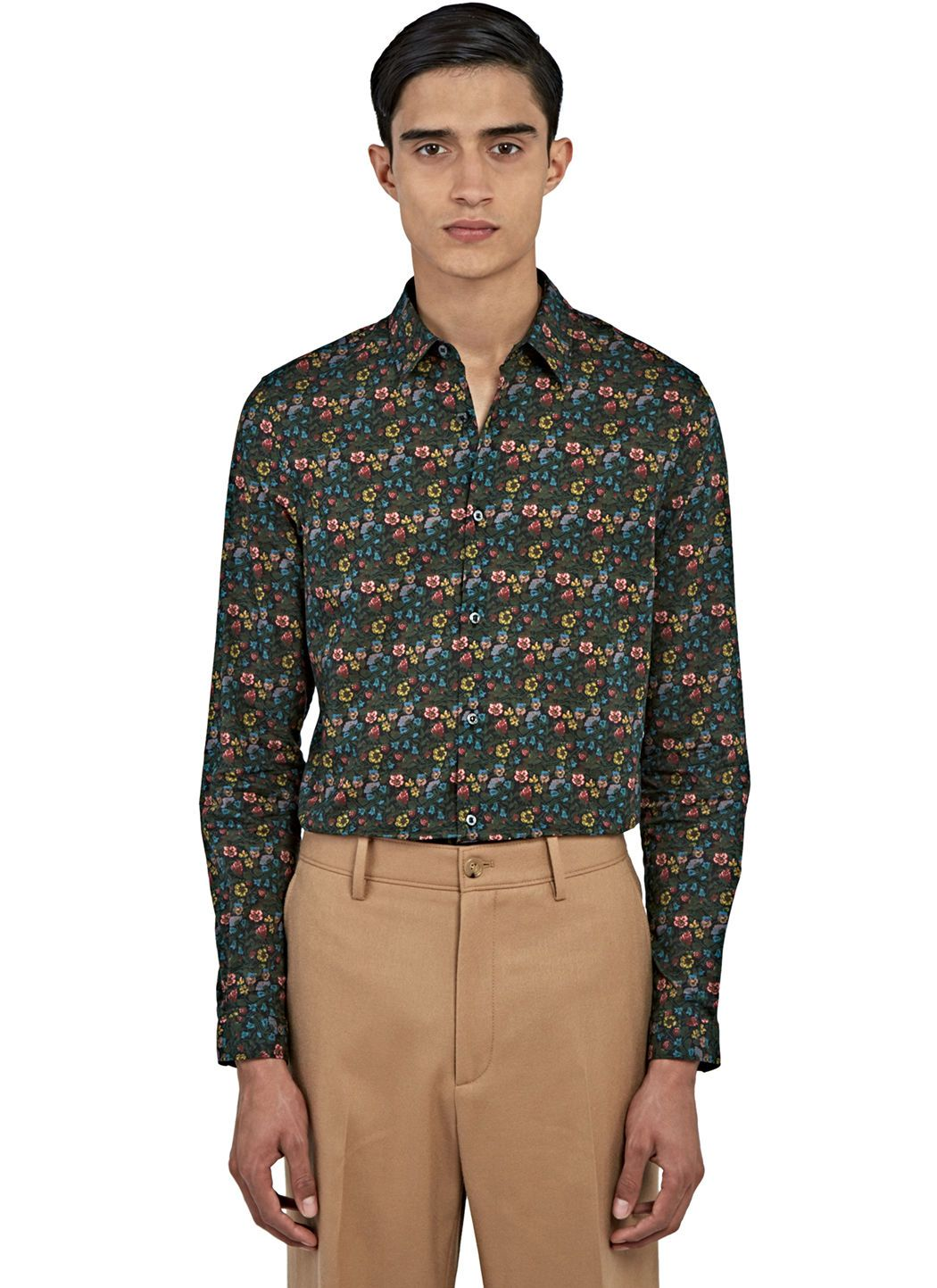 GUCCI Men'S Duke Floral Print Shirt In Green. #gucci #cloth ...