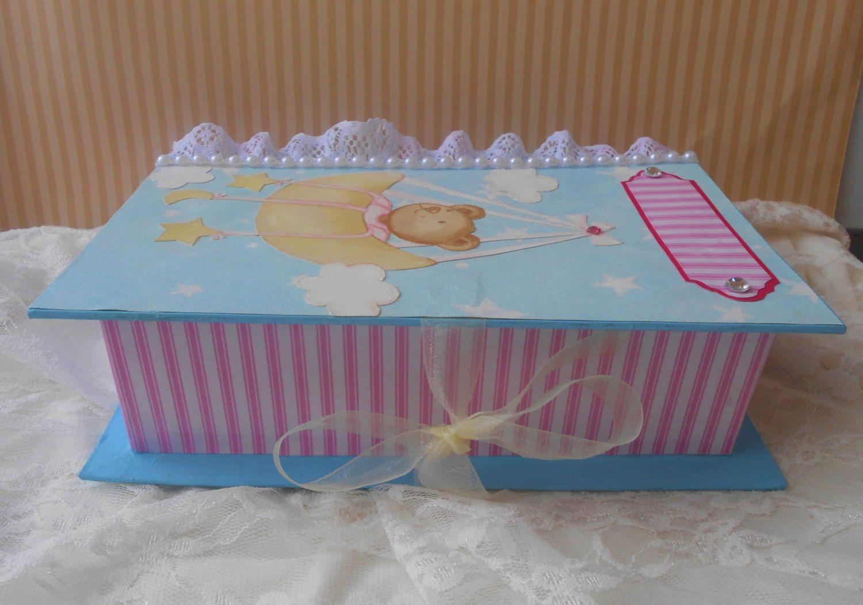 Baby Shower Gifts Keepsakes ~ Baby memory box baby memory book altered box baby box baby