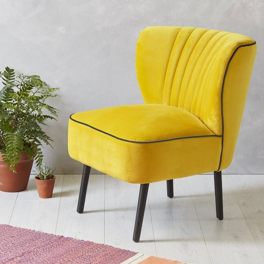 Are You Interested In Our Yellow Velvet Cocktail Chair