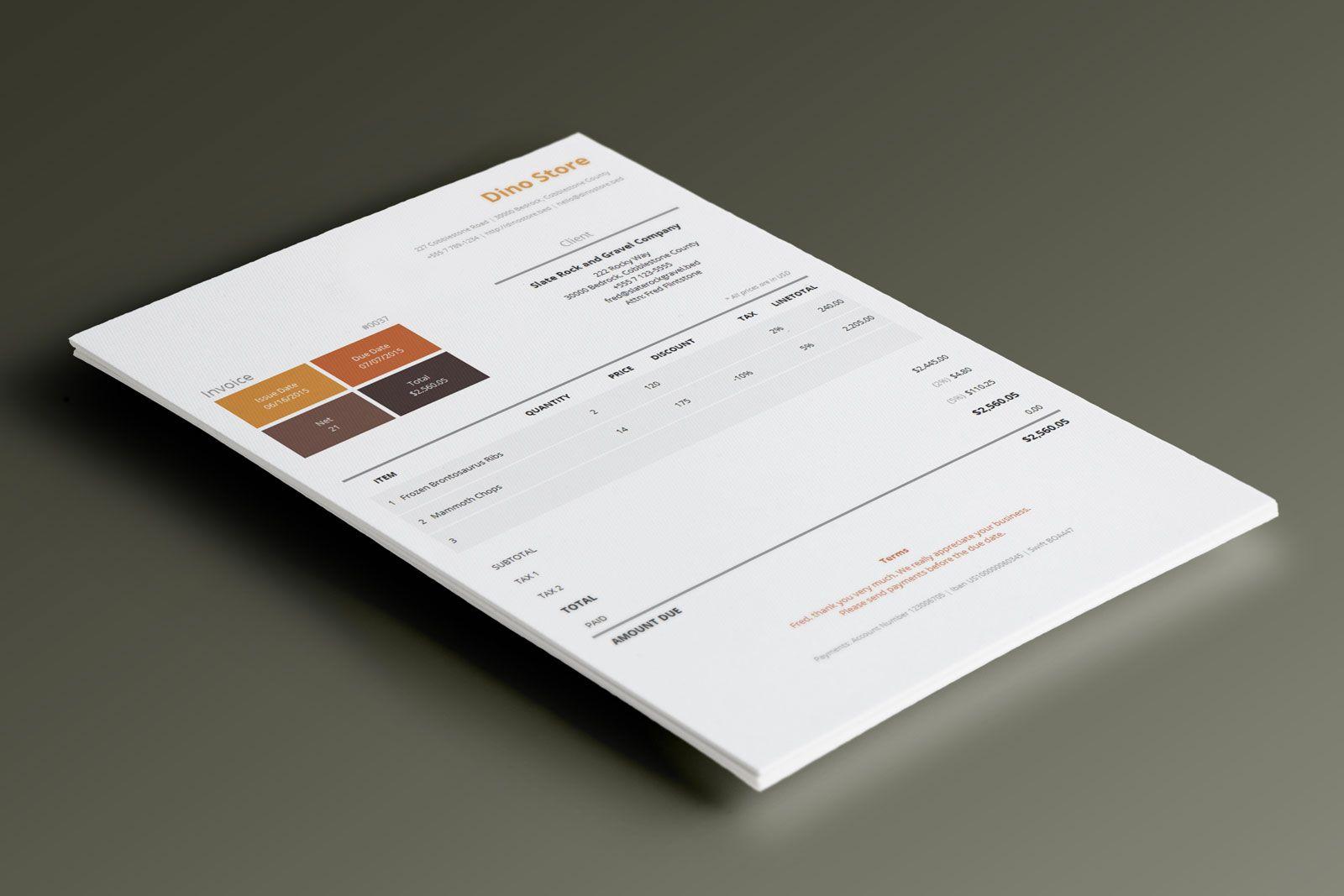 Simple Corporate Invoice Template Metro Invoice Templates