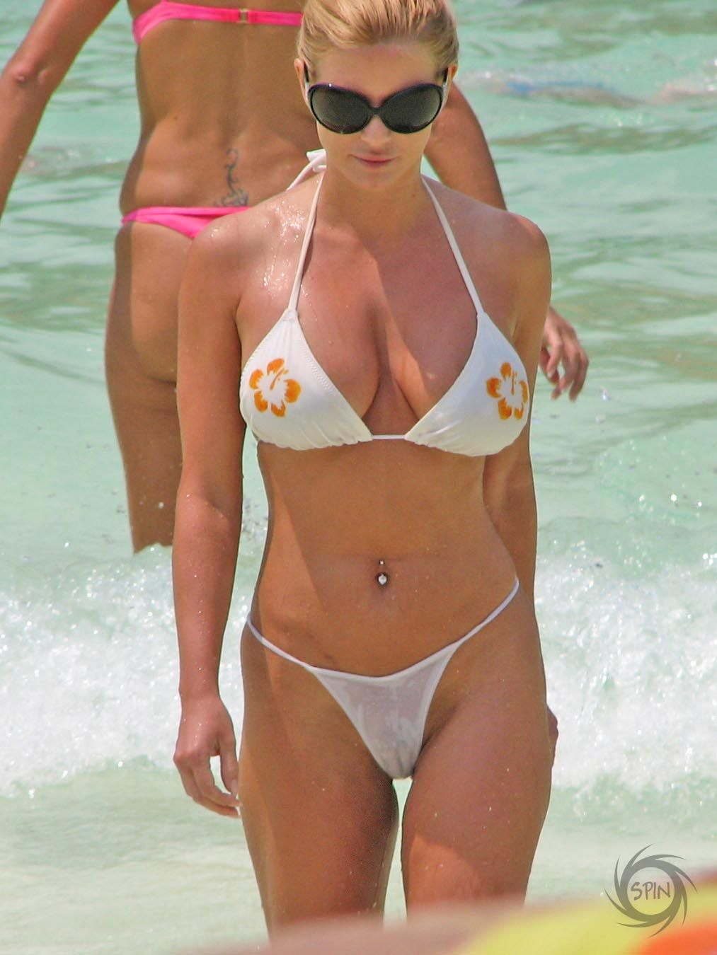 Celebrities micro bikini see thru