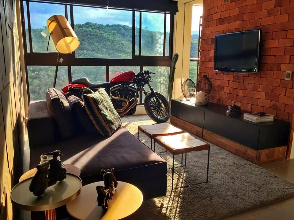Apartment Interior Design Singapore harley davidson inspired apartment - interior design singapore