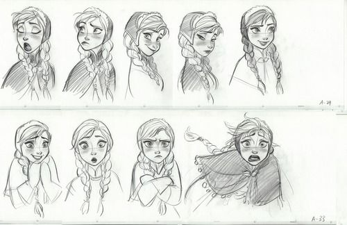 Anna - Expression Sheet from Frozen