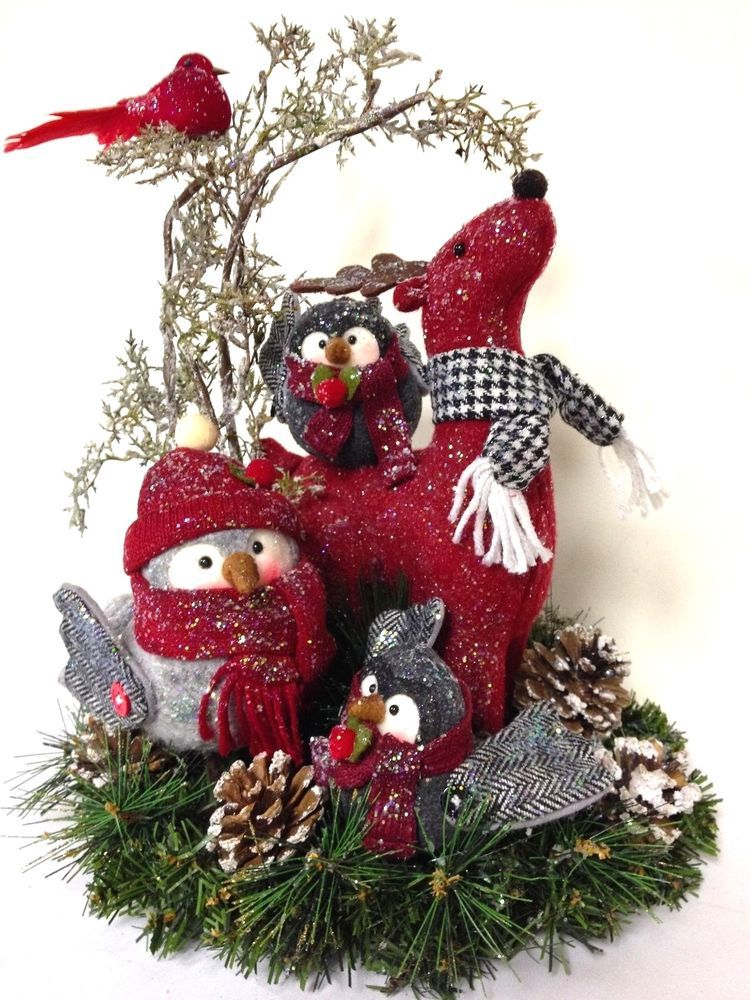 Sold Owl Babies Collection Winter Christmas Arrangement Centerpiece Custom Christmas Arrangements Christmas Centerpieces Christmas Arrangements Centerpieces