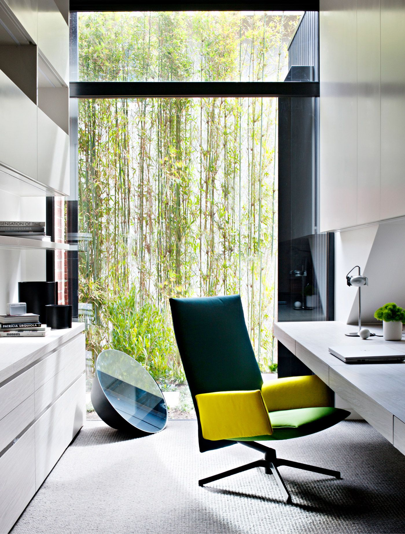 Modern Office Minimal Interior Design Limed Oak Built Ins Bleached