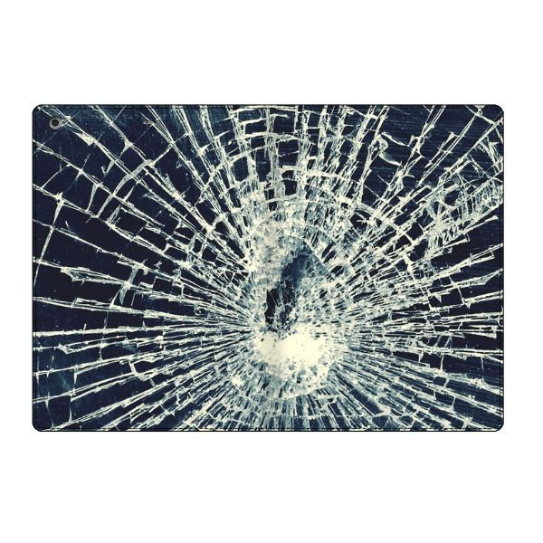 Broken Screen Wallpaper: IPad Air Broken Glass Folio Leather Case