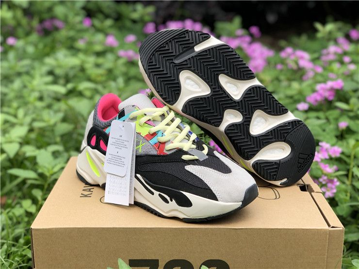 "4f6ebbfd8 2018 Custom KAWS x adidas YEEZY BOOST 700 ""Wave Runners""  Grey Black-Yellow-Pink – New Yeezy Boost"