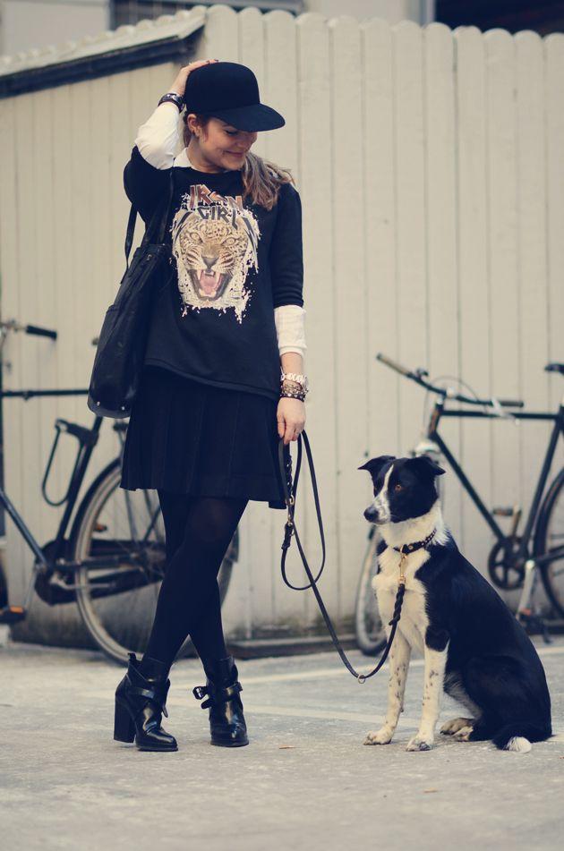 leopard sweatshirt og penny cap | Emily Salomon