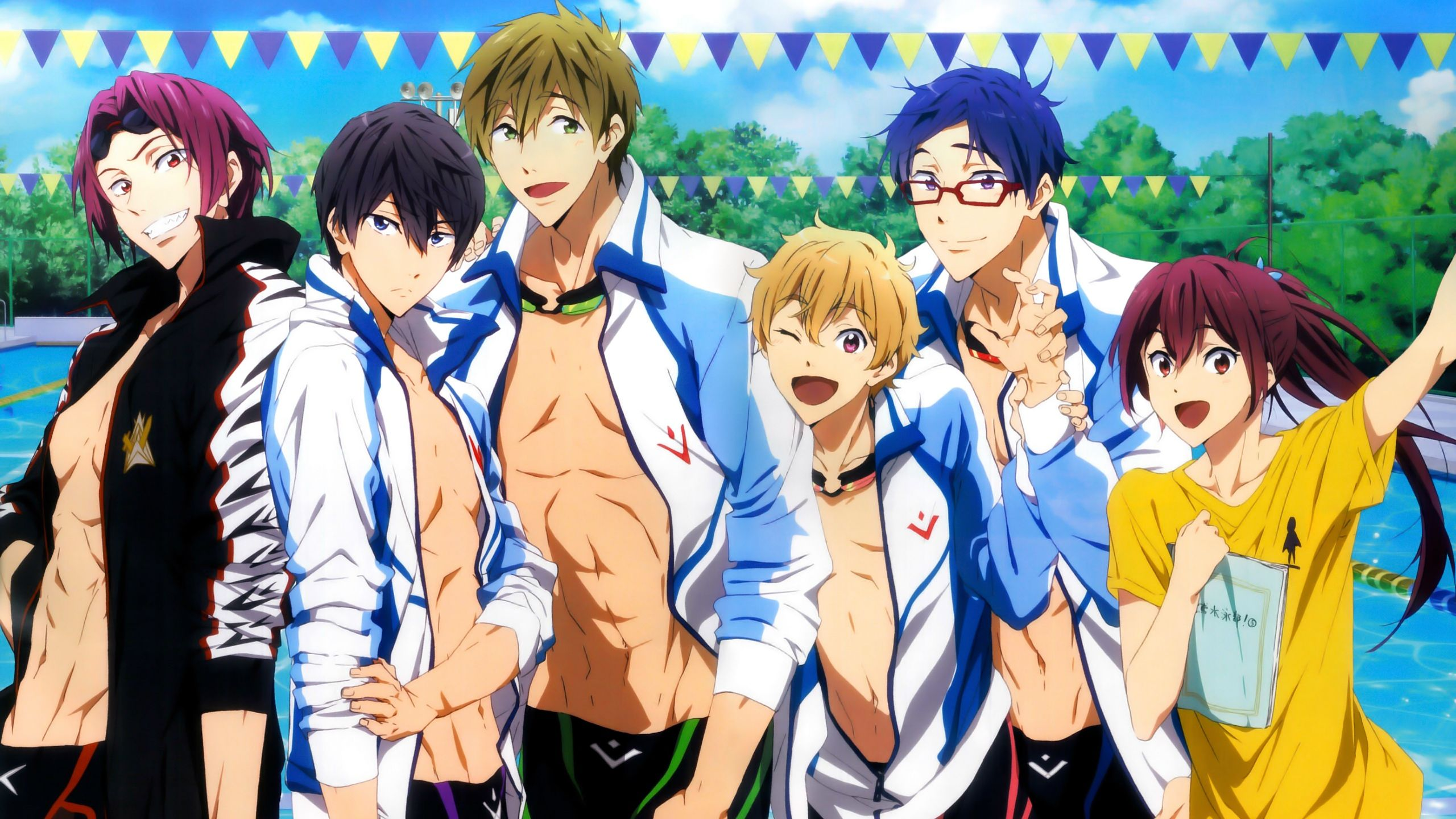 free iwatobi swim club v1 0 chrome theme on pinterest