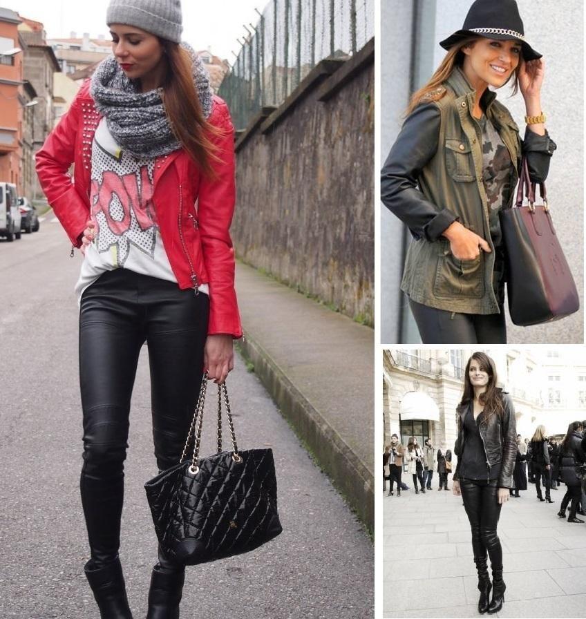 Con casaca de cuero rojo   Moda   Pinterest   Cuero rojo ...