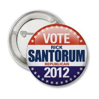 Rick Santorum 2012 Pin