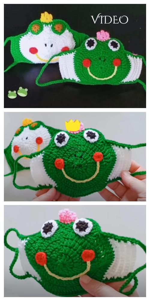 Minion and Frog Mask Crochet Patterns + Video - DIY Magazine