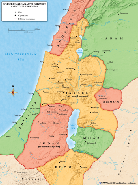 Israel Map Today Map of Judah Today (Map divided kingdom Israel Judah)   Bing  Israel Map Today