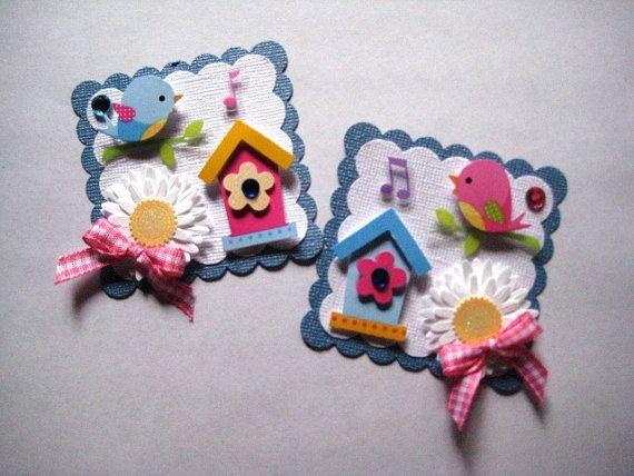 2 Handmade Spring Embellishments/Very Tweet by LOVE2STAMP4U, $4.49