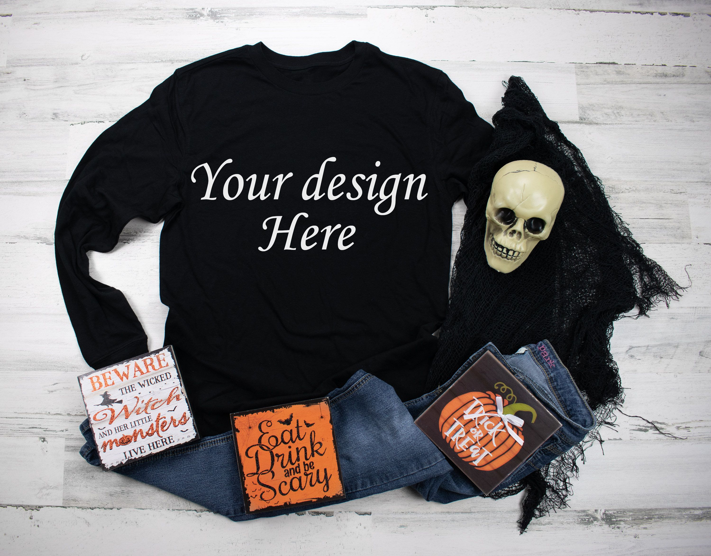 Download Long Sleeve Shirt Mockup Black Shirt Mockup Halloween Shirt Etsy Shirt Mockup Black Shirt Long Sleeve Shirts
