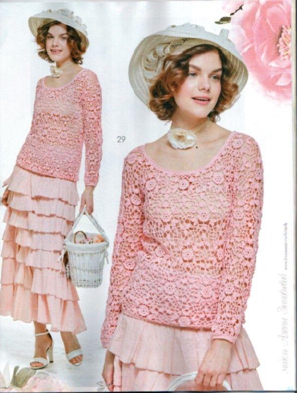 A revista russa Mod além de trazer a excelência no que se trata de crochê e tricô..  Nos brinda com fotos hiper produzidas, de muitíssimo bo...