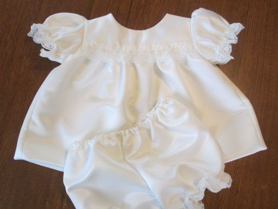 Handmade white organza /& satin ribbon trim frilly knickers baby//toddler