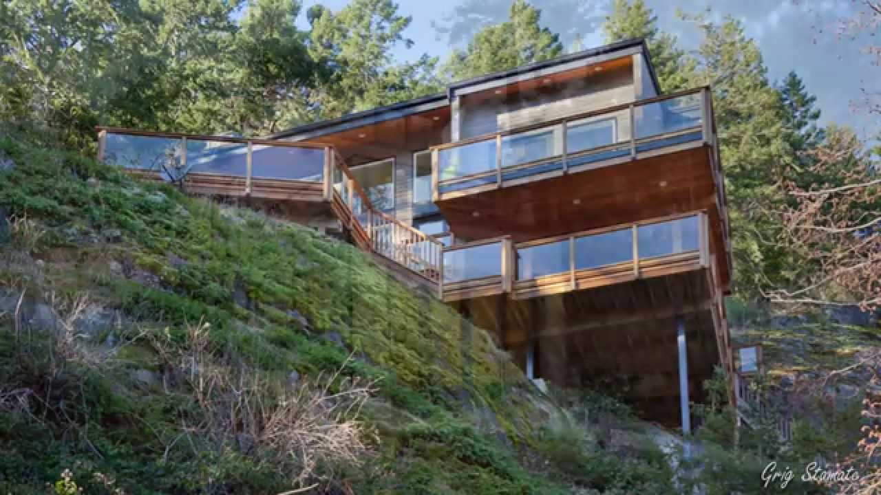 Unique houses on sloping ground hillside homes