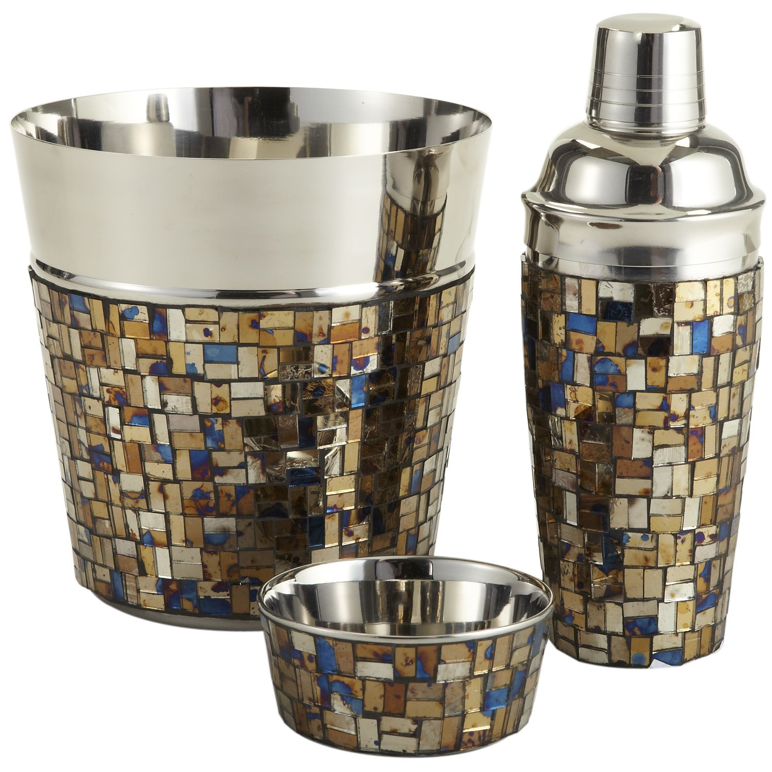 Pier One Bakers Rack: Pier 1 Mosaic Barware Is Topped With Stainless Steel