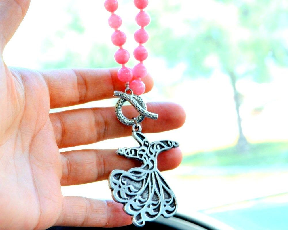 Pink Dervish, New Car Gift, Mevlana Rearview Mirror Charm