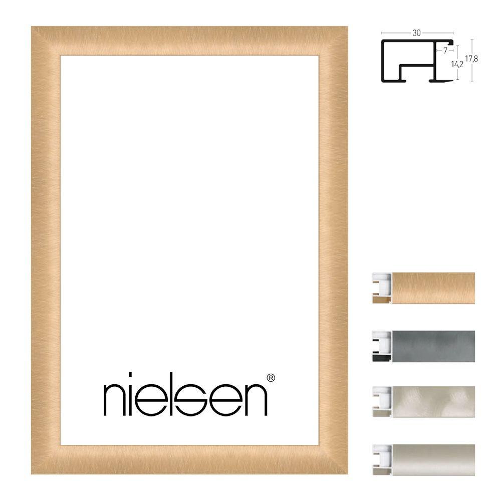 Nielsen Alurahmen Sonderzuschnitt, Profil 69  Nickel