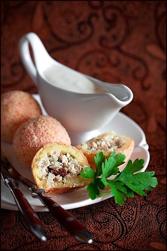 Stuffed Potato croquettes (in russian)