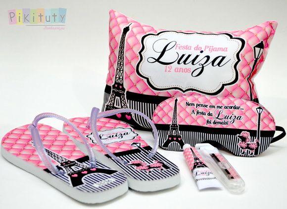 1a9af4d5a7986d Kit Festa do Pijama +chinelo +Kit dental | PARIS | Lembrancinhas de ...