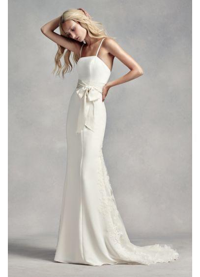 c7650e5e77f8 Long Sheath Beach Wedding Dress - White by Vera Wang