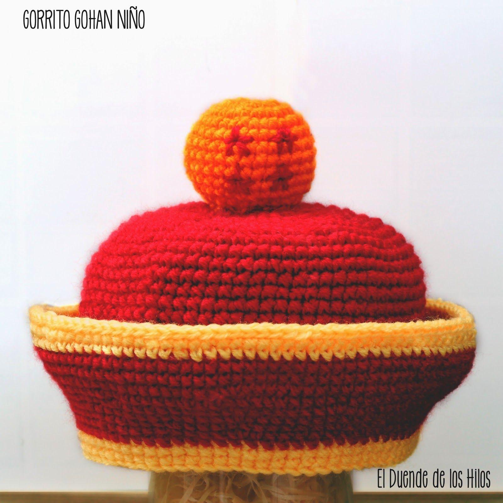 El Duende de los Hilos: Gorrito de Gohan (Bebé) | gorros | Pinterest ...