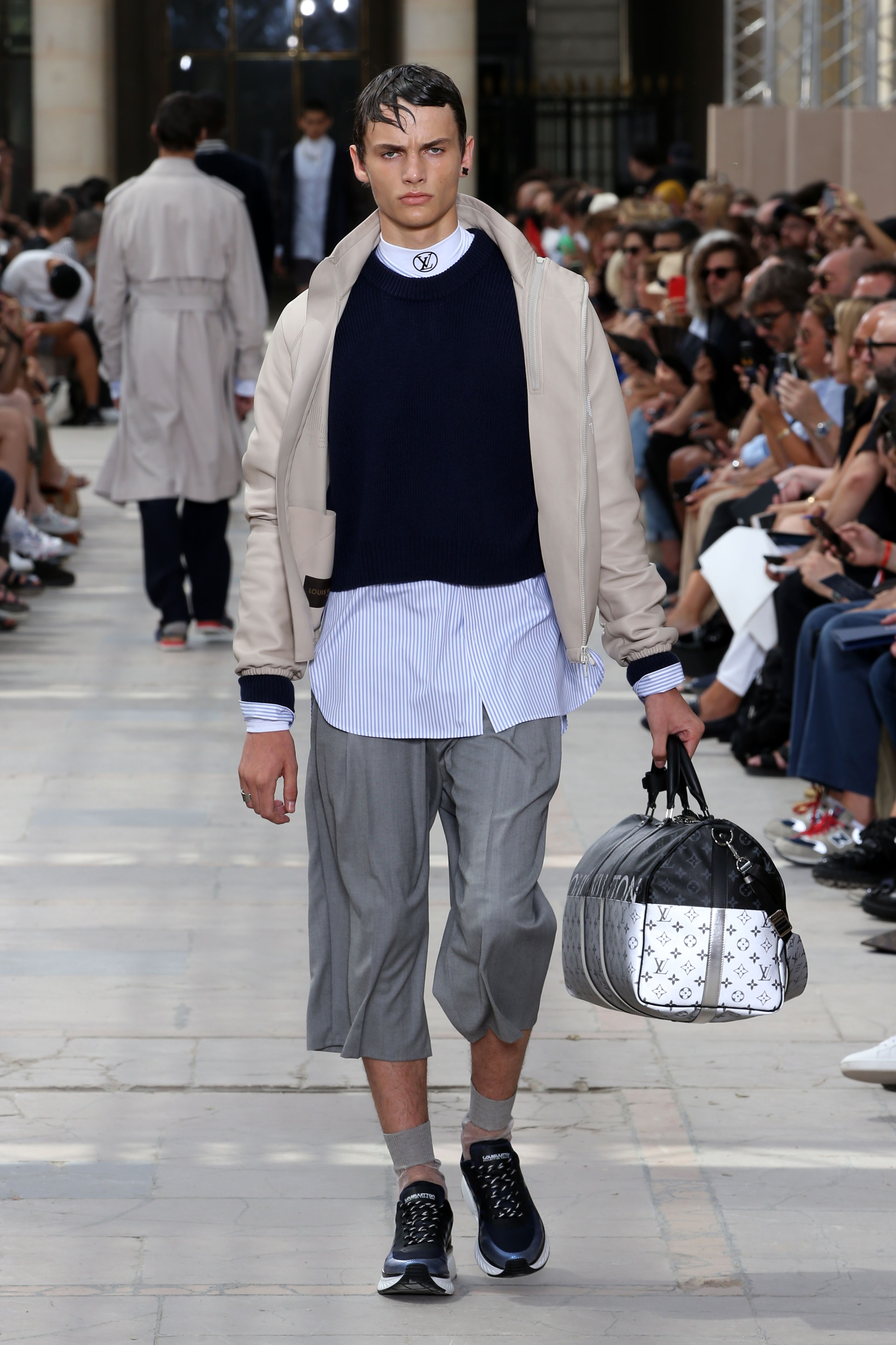 4df756c95daf A look from the Louis Vuitton Men s Spring-Summer 2018 Fashion Show by Kim  Jones