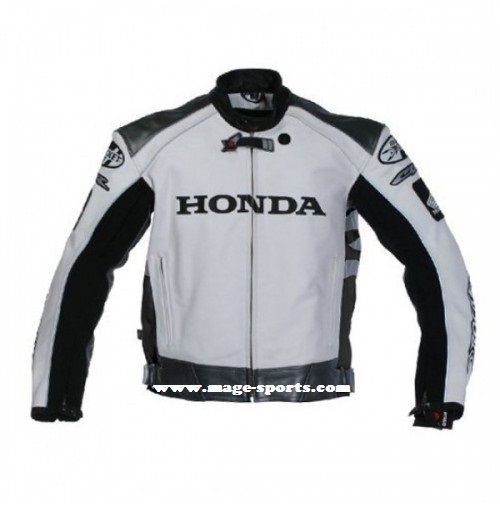 Honda Fascinating Bike Leather Jacket For Men Jaket Panas