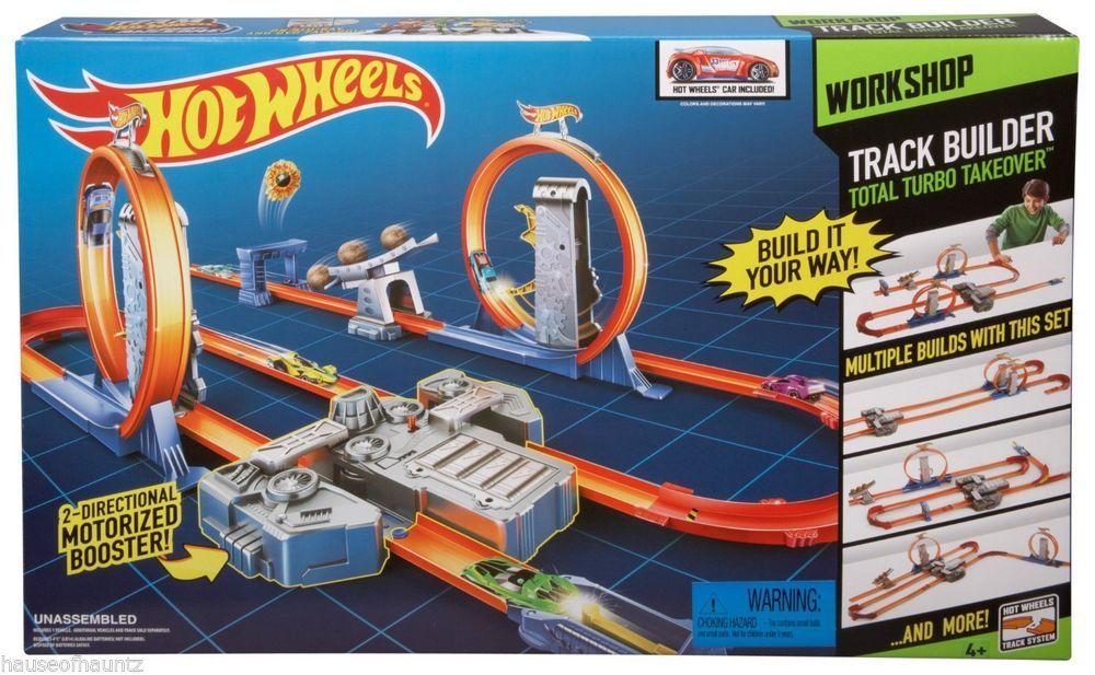 Hot Wheels Track Builder Total Turbo Takeover Track Set Die Cast Car Race System Mattel Hot Wheels Track Builder Hot Wheels Track Mattel Hot Wheels