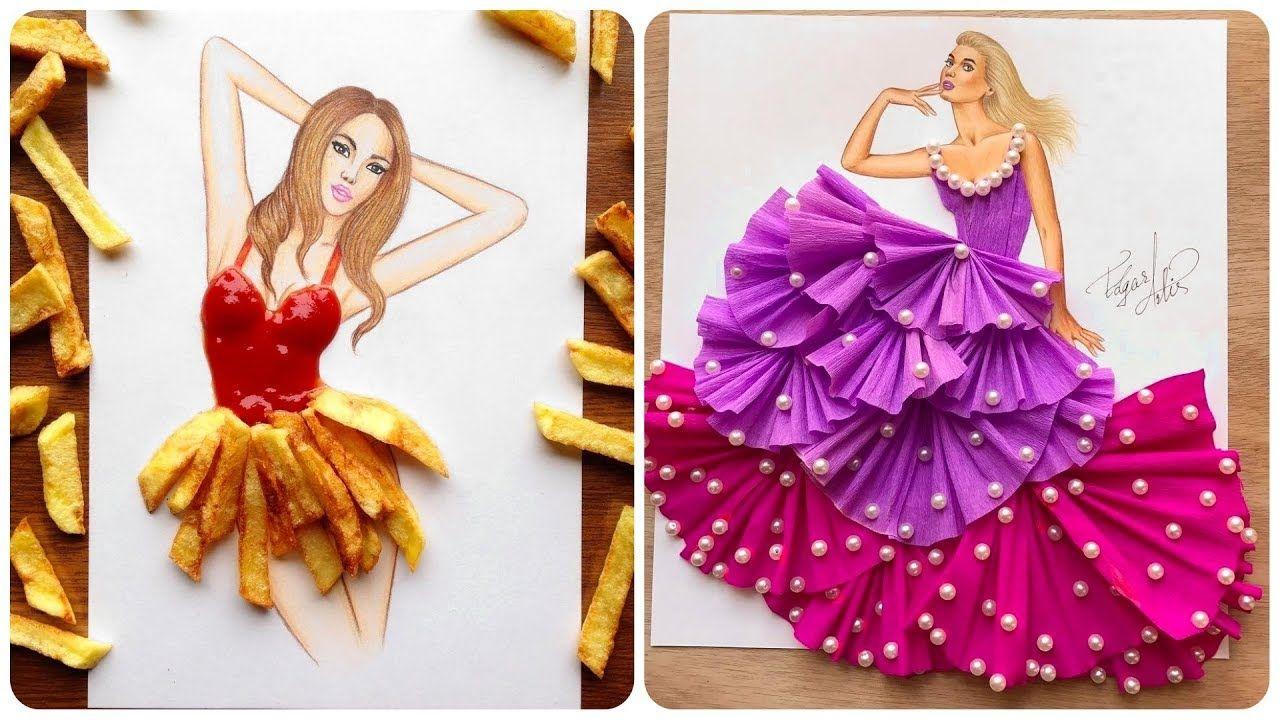 11 58 Armenian Fashion Illustrator Creates Stunning Dresses From Everyday Obje Fashion Illustration Dresses Fashion Illustrator Creative Fashion