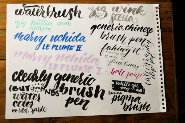 Brush pen calligraphy calligraphy brush pen