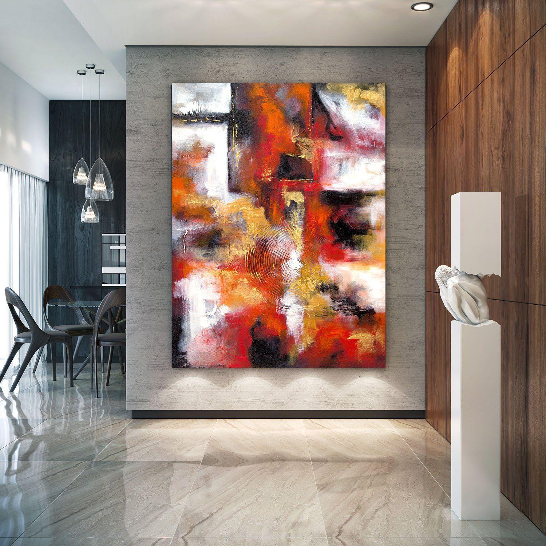 Extra large wall art original art bright abstract original