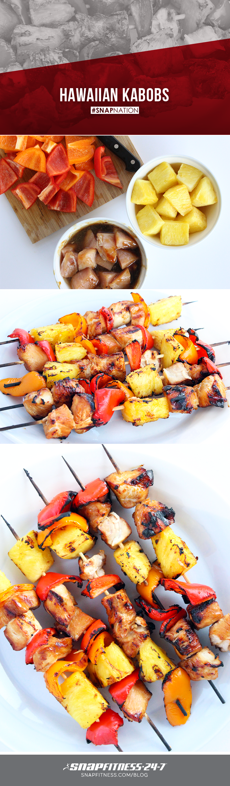 With the first long weekend of summer just around the corner, start your grills and get ready for some delicious grilled food! Whip up these Hawaiian Chicken Kabobs for fun twist on classic Kabobs.