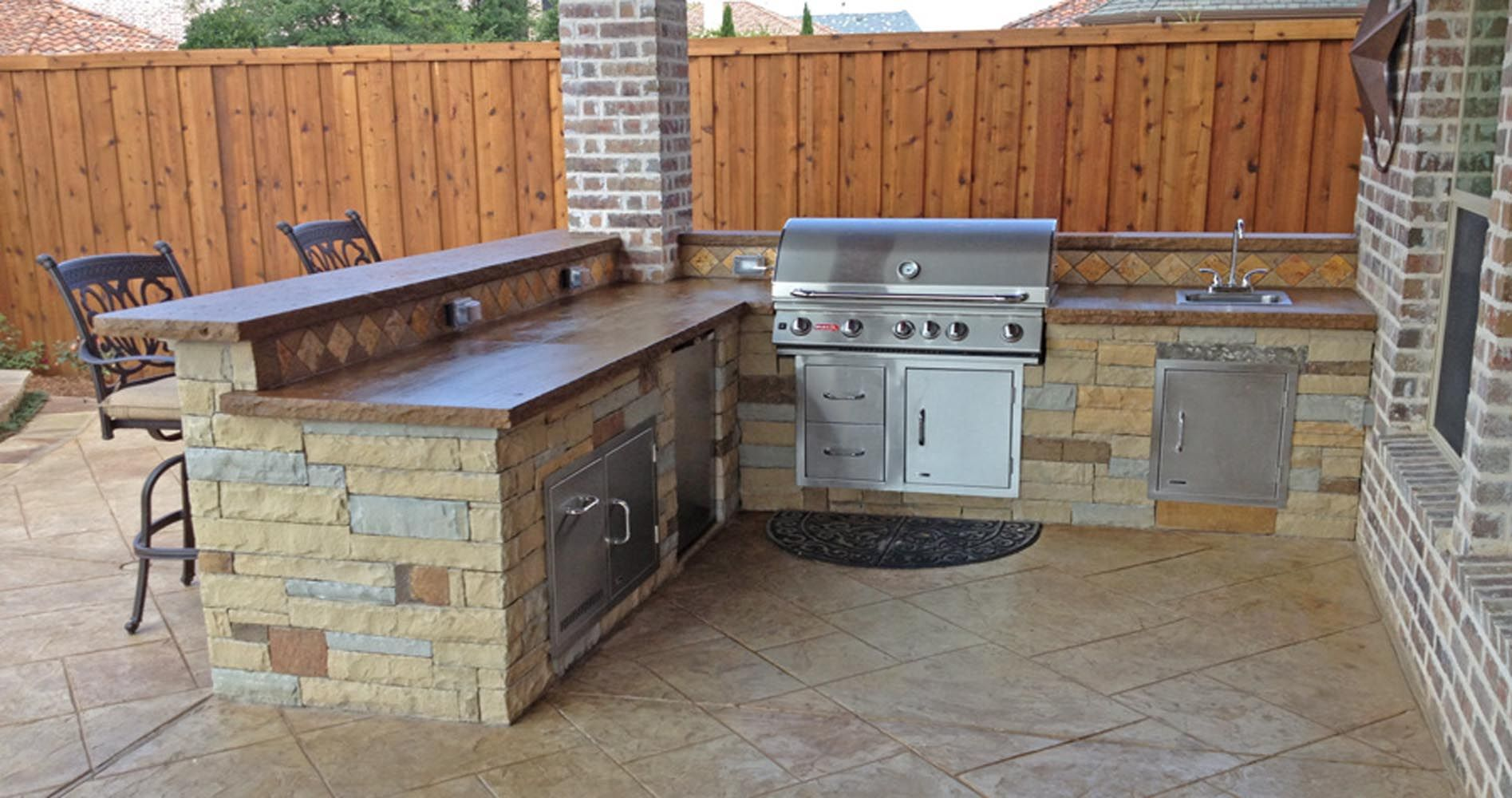 The walls and backsplash ideas Outdoor